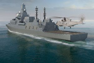 Many of the Royal navy's new Frigates are built on the Clyda. Picture: MoD