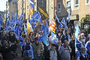 An independence march in Edinburgh earlier this month. Picture: Neil Hanna Photography'/TSPL