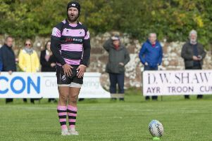 Frazier Climo converted all of Ayr's tries in the victory over Hawick. Pic: SNS