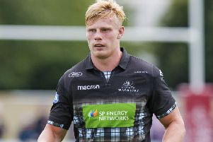 Matt Smith touched down twice for Glasgow Hawks. Picture: SNS/SRU.