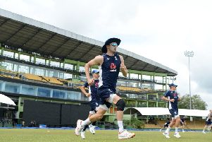 Bowler Mark Wood says the England players attend meetings before every big series, when they are told about 'the dos and don'ts'. Picture: Getty.