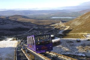 The CairnGorm funicular, taking passengers above the snowline PIC: Ian Rutherford for The Scotsman