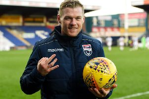 Ross County's hat-trick hero Billy Mckay. Picture: SNS
