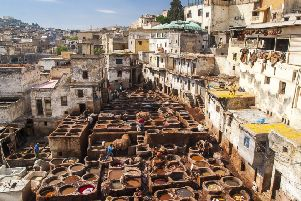 The tannery is one of the most impressive sights in Fes' Medina. Pic: Getty