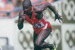 Canadian sprinter Ben Johnson competes in the 100 metres final at the 1988 Summer Olympics in Seoul, September 1988. Picture: Tony Duffy/Getty Images