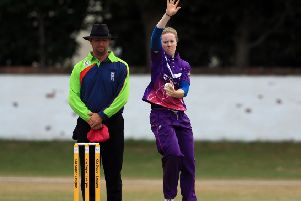 Kirstie Gordon in action for Loughborough Lightning. The Huntly-born spinner will represent England at the World T20. Picture: Clint Hughes/Getty Images