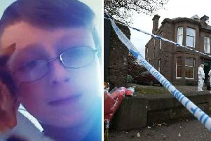 Kane Morris died at the scene on Union Street, Coupar Angus. Picture: PA Wire/Police Scotland