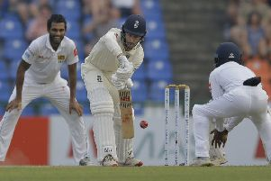 Nightwatchman Jack Leach faced one over in the second innings. Picture: Eranga Jayawardena/AP