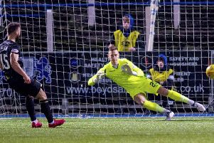 Inverness CT's Sean Welsh levels the scoring. Pic: SNS/Sammy Turner