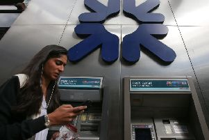 There are just over 7,500 bank branches left in the UK ' down from around 20,000 some 30 years ago. Picture: AFP/Getty