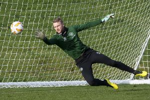 Celtic goalkeeper Scott Bain trains ahead of Sunday's Betfred Cup final, in which he will play ahead of regular No 1 Craig Gordon. Picture: Craig Williamson/SNS