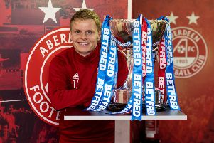 28/11/18'PITTODRIE - ABERDEEN'Aberdeen winger Gary Mackay-Steven looks ahead to the Betfred Cup final against Celtic