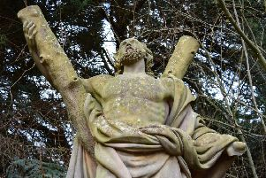 The University of St Andrews' life-size statue of of Scotland's patron saint which is missing its left hand. Picture: PA Wire