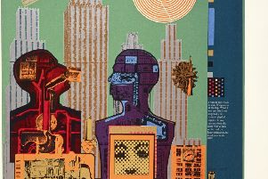 Wittgenstein in New York (from As is When), by Eduardo Paolozzi, 1964 PIC:' National Galleries of Scotland, purchased 2001''� Trustees of the Paolozzi Foundation, Licensed by DACS 2018