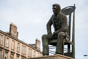 The bronze statue of Charles Rennie Mackintosh stands at the corner of St Vincent Street and Elliot Street in the Anderston district of Glasgow. Picture: John Devlin/TSPL
