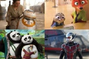 The Force Awakens, Zootropolis, Kung Fu Panda and Ant-Man are all appearing on Scottish televisions this Christmas (Images: Walt Disney Studios Motion Pictures/20th Century Fox)