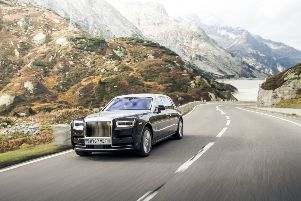 The new Rolls-Royce Phantom is lighter than the previous version but still weighs in at more than two and a half tons. Picture: James Lipman