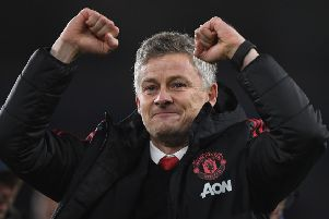 Ole Gunnar Solskjaer celebrates after Manchester United's 5-1 win over Cardiff City. Picture: Stu Forster/Getty Images
