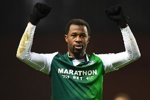 Efe Ambrose has been linked with a move away from Hibs next month. Picture: SNS Group