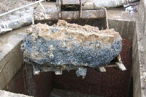 A fatberg is pulled out of a Scottish sewer. Picture: Scottish Water
