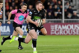 Stuart Hogg is back in the Glasgow team after being sidelined with a hip injury. Picture: SNS/SRU.