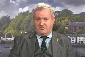 Mr Blackford claimed that supporting Labour's proposed Brexit plans would serve a 'devastating blow' to communities across Scotland