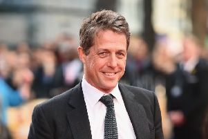 "Hugh Grant arrives for the UK film premiere of ""Florence Foster Jenkins""  (Photo by Ian Gavan/Getty Images)"