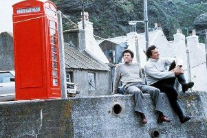 Local hero stars, left to right, the phone box, Peter Riegert and Christopher Rozycki