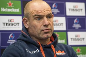 Edinburgh Rugby head coach Richard Cockerill. Picture: SNS
