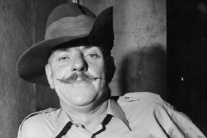 Actor Windsor Davies, appearing in the television series 'It Ain't Half Hot, Mum' in 1974. Picture: Chris Ware/Keystone/Getty Images
