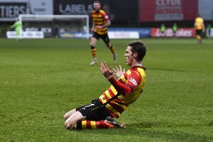 Blair Spittal sealed victory by scoring Partick Thistle's fourth goal. Picture: SNS.