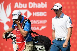 Grant Forrest, far right, in Abu Dhabi. Pic: Getty
