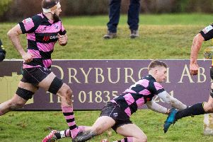 Ayr's Paddy Dewhirst in action. Pic: SNS/SRU/Ross Parker