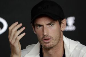 Andy Murray has had hip resurfacing surgery. Picture: Aaron Favila/AP