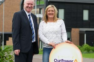 The then Social Justice Secretary Alex Neil helps launch energy firm Our Power in 2015 (Picture: John Devlin)