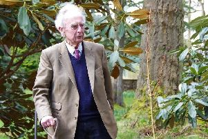 Sir Peter undertaking a commemorative planting at Benmore after receiving the RBGE medal last year (Picture: RBGE)