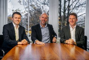 Investment director Colin Bennett, head of LDC in Scotland Mark Kerr and investment director Lee Donaldson. Picture: Contributed