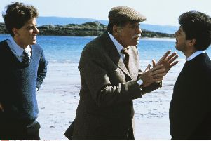 Peter Capaldi, Burt Lancaster, and Peter Riegert in a scene from Bill Forsyth's much-loved 1983 film Local Hero. Picture: Enigma/Goldcrest/Kobal/REX/Shutterstock