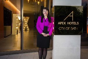 Chief executive Angela Vickers at Apex City of Bath hotel. Picture: Contributed