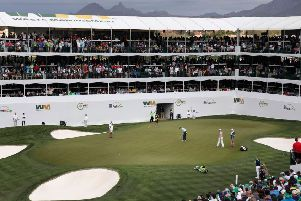 Denny McCarthy's two-shot penalty under the new rules was imposed in the second round of the Waste Management Phoenix Open. Picture: Getty Images