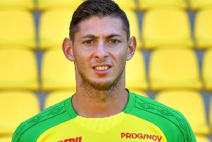 Cardiff striker Emiliano Sala was on board of a missing plane that vanished from radar off Alderney in the Channel Islands according to  French police sources on January 22, 2019. (Photo by LOIC VENANCE / AFP)LOIC VENANCE/AFP/Getty Images