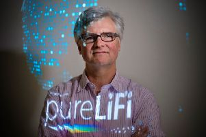 PureLiFi chief executive Alistair Banham said the ecosystem is 'crying out for new wireless technology'. Picture: Contributed