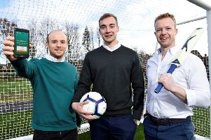 From left: Shea O'Hagan, Chris McCann and Fearghal Campbell. Picture: contributed.