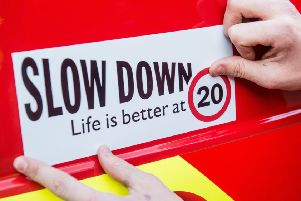 Legislation currently working its way through the Scottish Parliament would make 20mph the default speed limit on 'restricted roads', which are mainly urban or residential streets with lighting. Picture:: Ian Georgeson