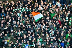 A general view of Celtic fans. The Hoops had the highest average attendance in Scotland