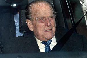 Prince Philip was uninjured in the incident. Picture: PA