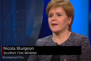 Nicola Sturgeon was a guest on the Amanpour & Co current affairs show, which is broadcast on the PBS network