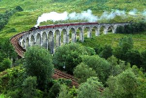 Thousands of people visit the Glenfinnan Viaduct hoping to see a steam train cross the bridge that features in the Harry Potter films. PIC: Creative Commons/Benutzer Nicolas 17.