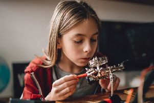 A campaign to encourage girls to study Stem subjects  ' science, technology, engineering and mathematics ' has been launched with special clubs to be set up. Picture: Getty