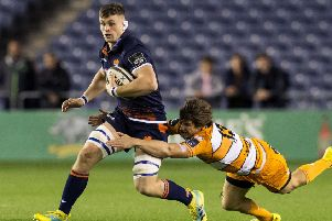 Magnus Bradbury in action for Edinburgh against Cheetahs in a Guinness PRO14 clash. Picture: